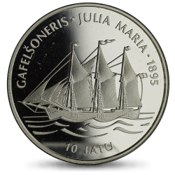 Łotwa 10 łatu 1995