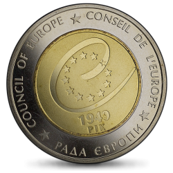 Ukraina - 5 hrywien 2009 - 60 lat Rady Europy