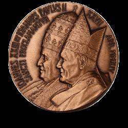 Watykan 2014 medal - Kanonizacja Jana Pawła II i Jana XXIII