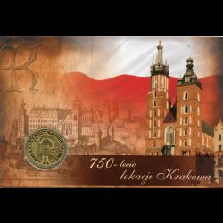 Blister A6 - 2zł 2007 750 lat Lokacji Krakowa