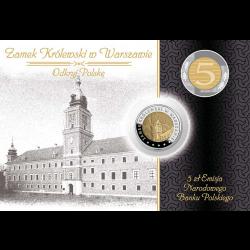 Blister A6 - 5zł 2014 Zamek Królewski + moneta