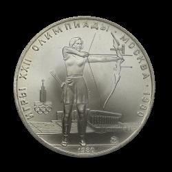 ZSRR - 5 Rubli 1980 Olimpiada Łucznictwo. Srebro