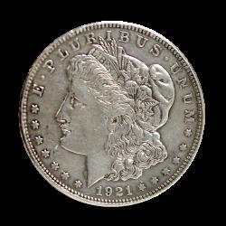 USA - 1 Dollar 1921 D Srebro.