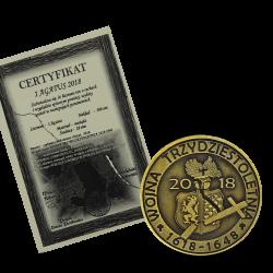 Lwówek 2018 - 1 Agatus oksydowany + certyfikat