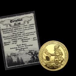 Aurun 4 pozłacany z rudą srebra + certyfikat 150 sztuk nakładu