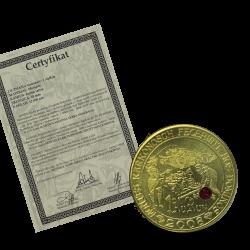 Aurun 1 mosiądz z rubinem + certyfikat