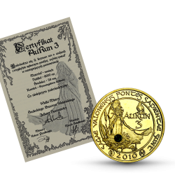 Aurun 3 mosiądz ze szmaragdem + certyfikat