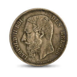 Belgia 1873 - 5 franków Leopolo II