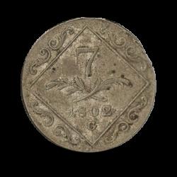 """Austria 7 rajcarów 1802 """"G"""""""